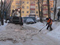 Уборка снега в Архангельске ведется в усиленном режиме